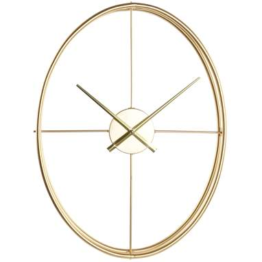 Wurk golden oval metal wall clock