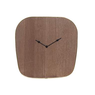 Hawe brown metal wood wall clock