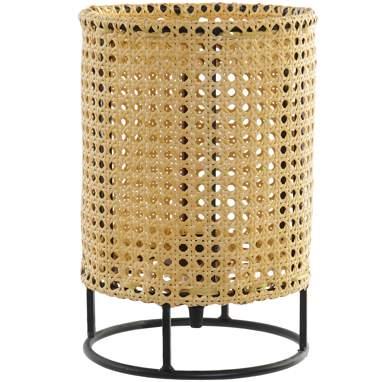 Drop lampada da tavolo metallo grata