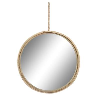 Long natural bamboo mirror