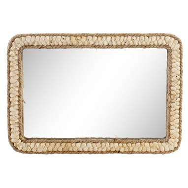 Leng natural fibre mirror