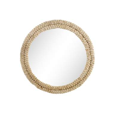 Garw natural fibre mirror