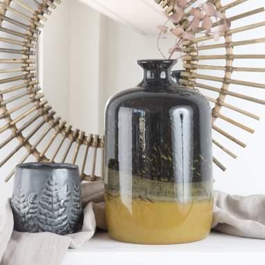 Gyrw vase cristal ambre