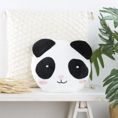 Mish white panda bear cushion