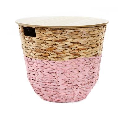 Lita table d'appoint fibre bois 40x33 panier