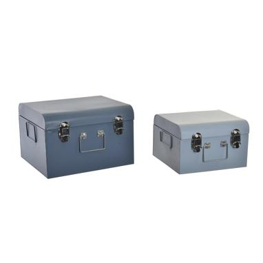 Seyn set 2 sky blue metal box