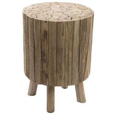 Trop natural wood auxiliar table