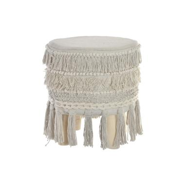 Tole wooden fringes footrest