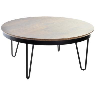 Eslid mesa café  metal impreso marron