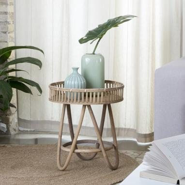Brass table d'appoint naturel