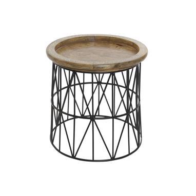 Dexa mesinha auxiliar metal/madeira  h53,5 cm