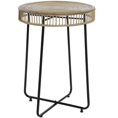 Blay bamboo/metal black auxiliary table