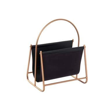 Galy copper metal magazine rack