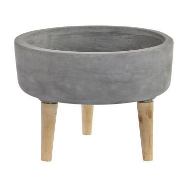 Seuk floreira cimento/madeira