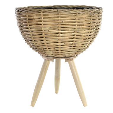 Anil vaso iante legno / fibre intrecciate