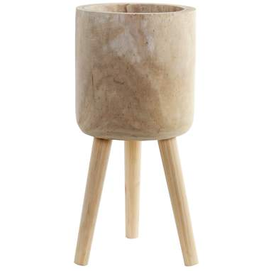 Bosw natural wood flowerpot stand