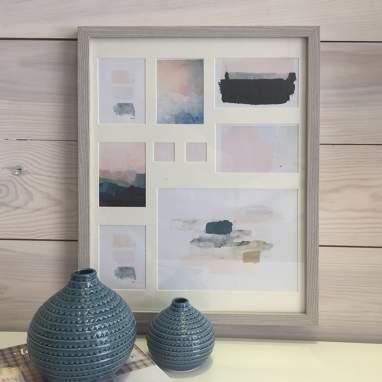 Lumi cadre multiphotos mural en bois 41x55