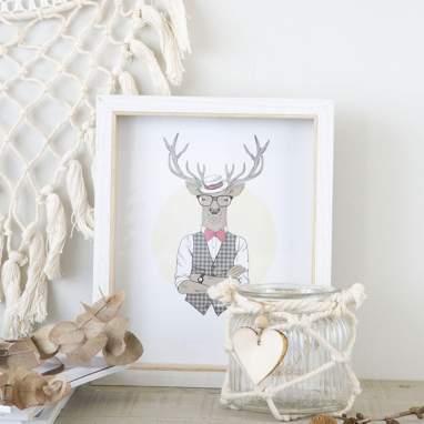 Treu cadre photos en bois et verre 20x25 blanc