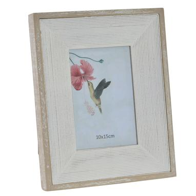 Kile white distressed wood photo frame 10x15