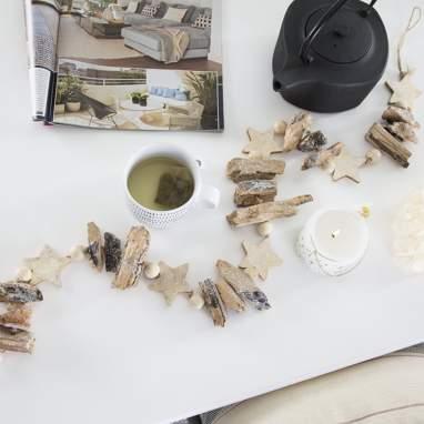 Opie guirlanda madeira natural