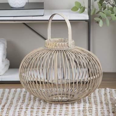 Micu porta-velas bambú 41x43