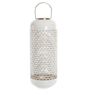 Omaf portavela aluminio lacado blanco