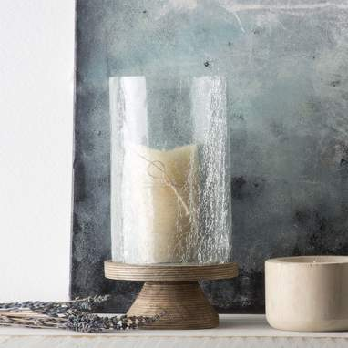 Gine crystal candle holder