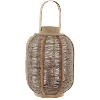 Drom portavelas bambú lino natural