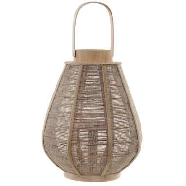 Dalk portavelas bambú lino natural