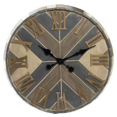 Nuty reloj pared madera 71x3  natural