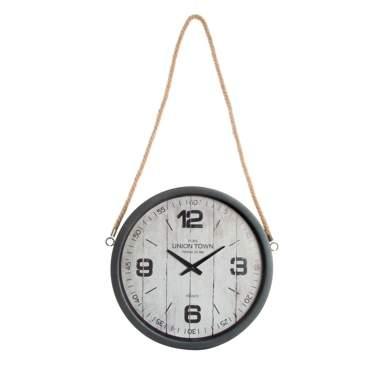 Polp reloj pared metal cristal 60x67x7 cuerda