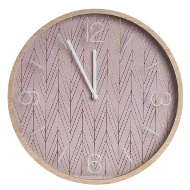 Mois relógio parede madeira vidro