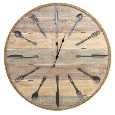 Sande reloj pared madera metal 100 d cubiertos