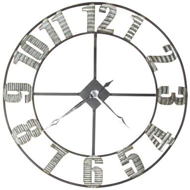 Rest black metal wall clock