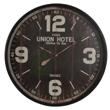 Enen distressed metal crystal clock