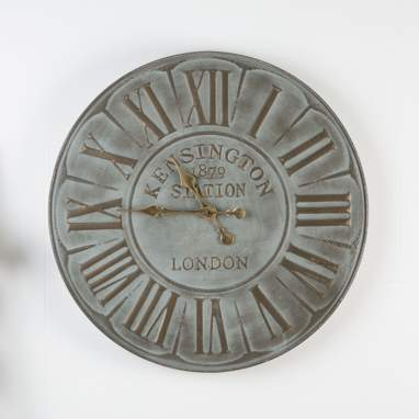 Letre relógio de parede metal 71,5