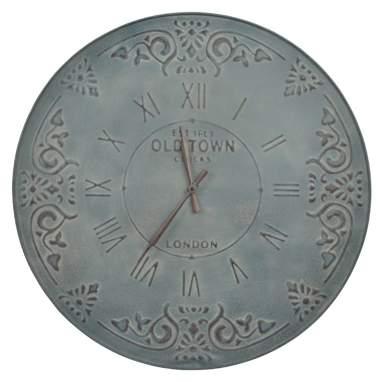 Nubo relógio parede metal cinza envelhecido