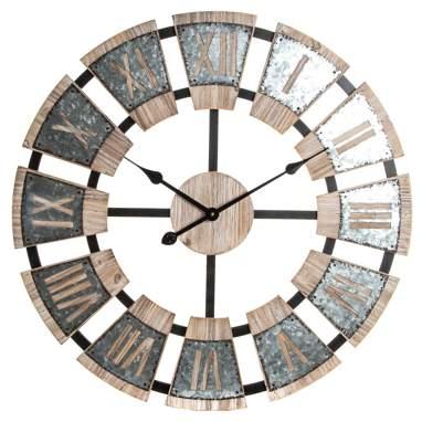 Panox relógio parede madeira estilo industrial