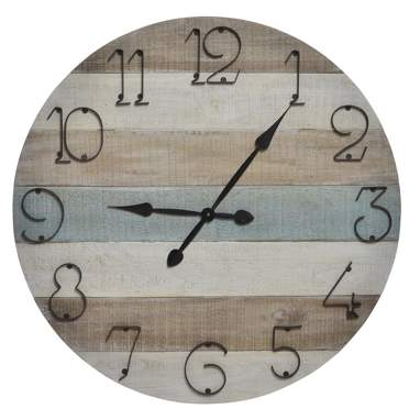 Broo wood wall clock