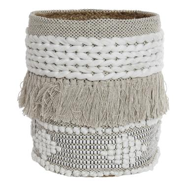 Lays beige cotton jute basquet