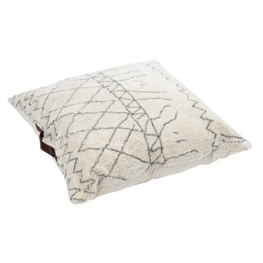 Anny white rhombus cotton cushion
