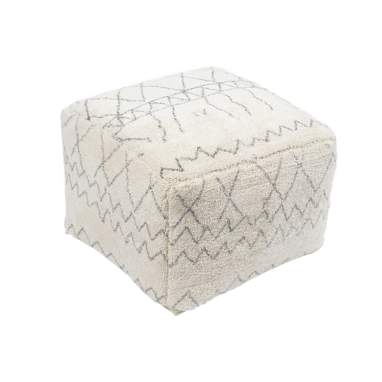 Layi white rhombus cotton puf