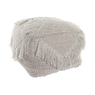 Paby fringes wool cotton cushion