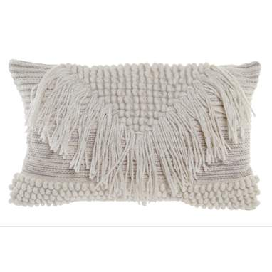 Essy cotton fringes wool cushion