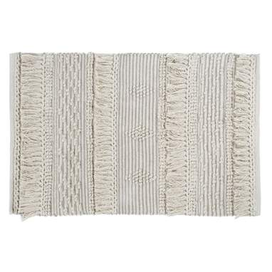 Wast beige cotton rug