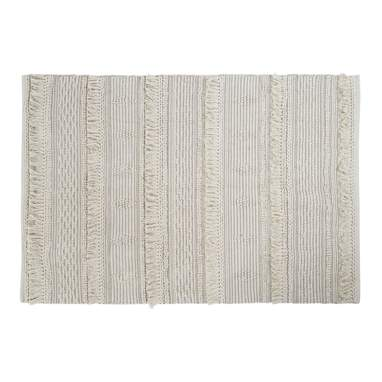 Wost beige cotton rug