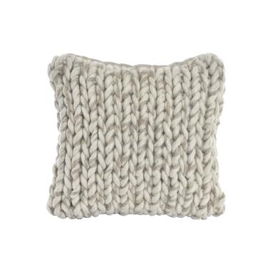 Treb grey knots woollen cushion