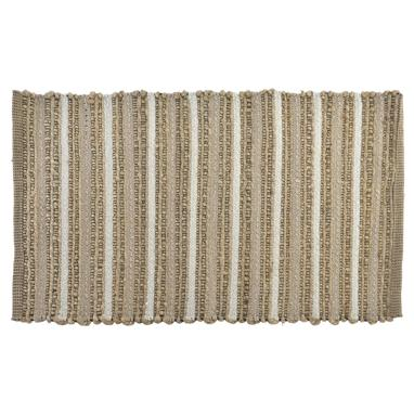 Canc lines brown jute chenille rug