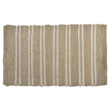 Hist alfombra jute 90x60 rayas natural