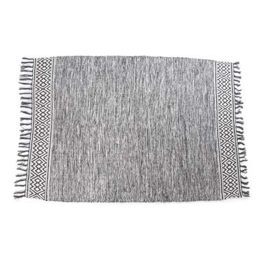 Teku grey kilim cotton rug